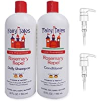 Fairy Tales Rosemary Repel Lice Prevention Shampoo & Conditioner Combo, 32 Ounce | Refill Bottles with 2 Pumps