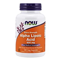 NOW Supplements, Alpha Lipoic Acid 600 mg with Grape Seed Extract & Bioperine®,...