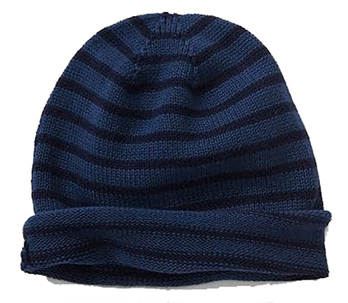 65a71803 Gap Mens Blue Navy Stripe Beanie Hat & Scarf at Amazon Men's Clothing store: