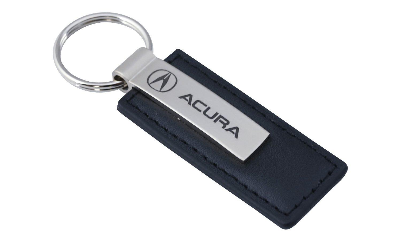 Amazoncom Acura Black Leather Key Chain Automotive - Acura keychain