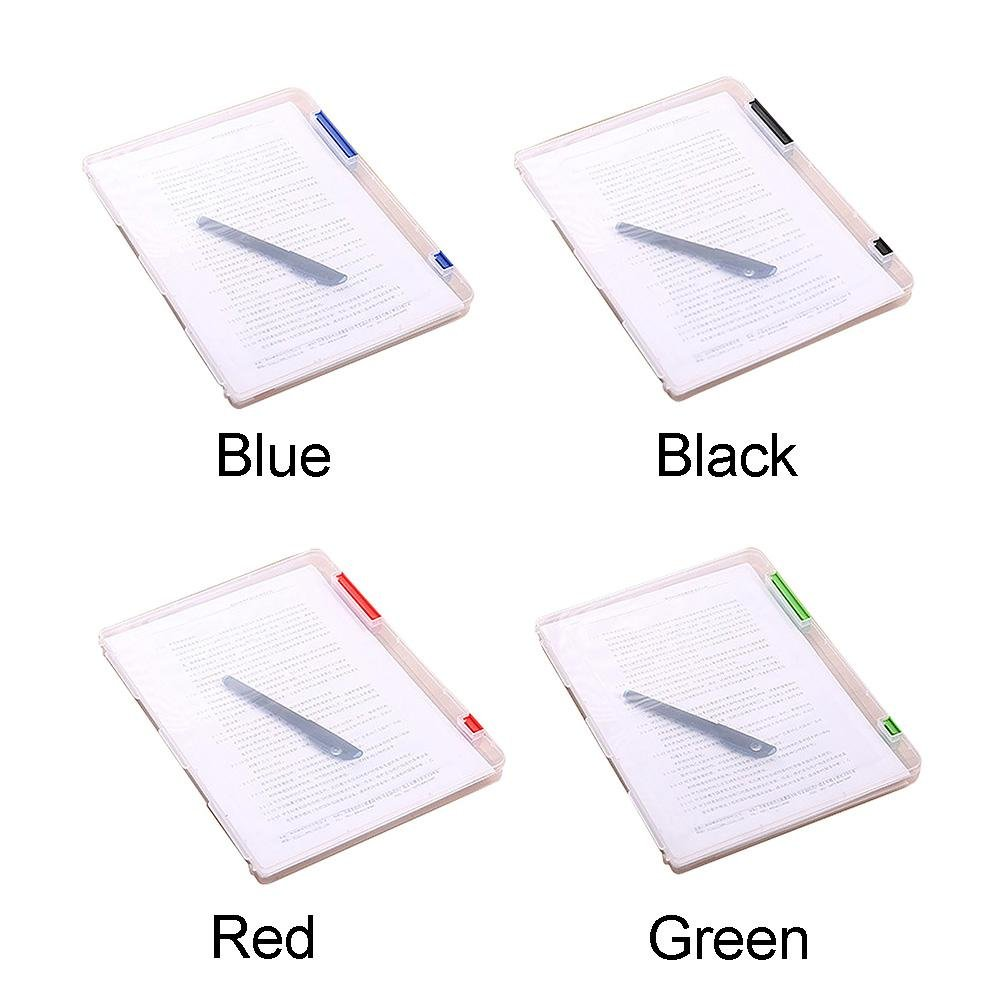 TR.OD A4 Transparent Plastic Document Cases File Holders, Desk Paper Organizers, Project Containers Blue