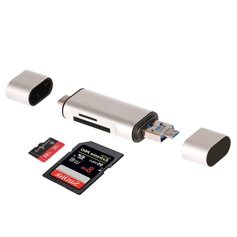 UHS-II GIKERSY Lettore Schede SD//TF Micro SD,SDXC, SDHC,UHS-I,Non-UHS-II con Lettore USB 3.0 SD4.0 Action Cam velocit/à di Lettura Fino a 312 MB//s,Compatibile con DSLR Video 4K
