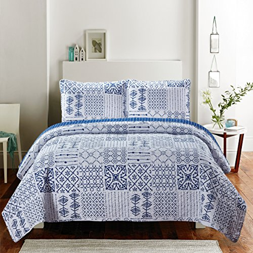 - SLPR Artistique 3-Piece Lightweight Printed Quilt Set (Queen)   with 2 Shams Pre-Washed All-Season Machine Washable Bedspread Coverlet