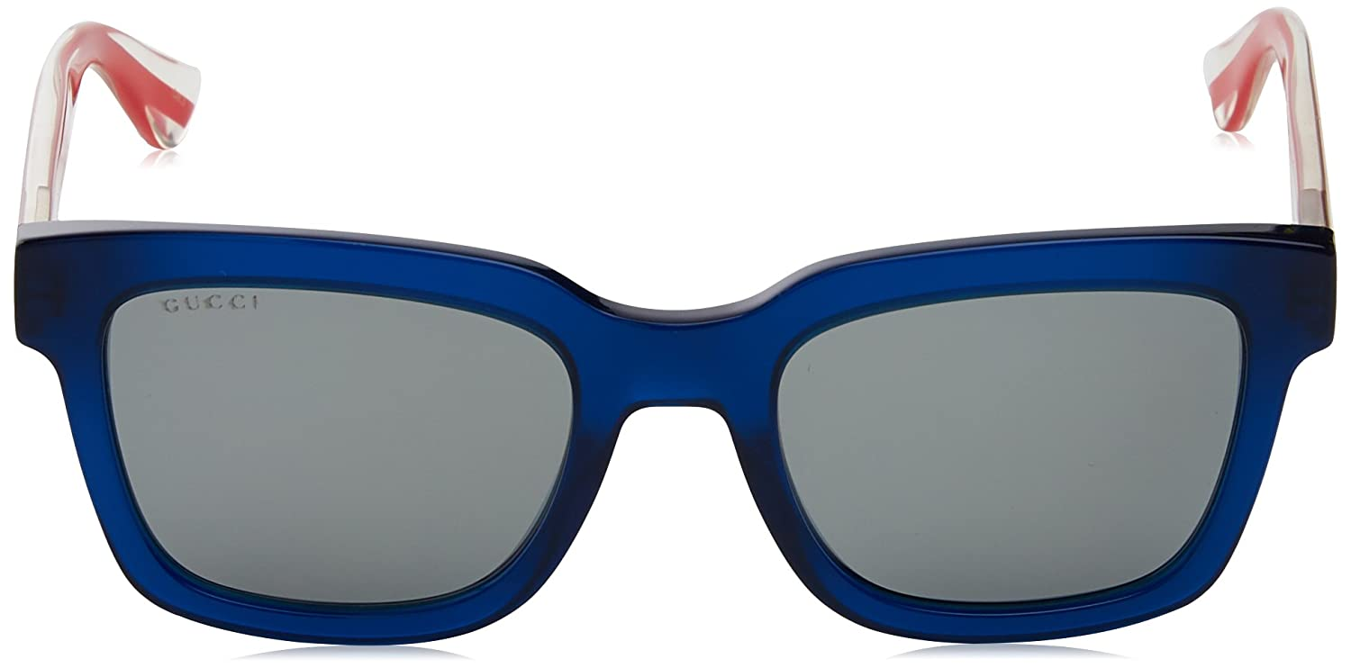 8c08d67e34233 Gucci Gucci GG0001S Sunglasses 004 Blue Red Crystal   Silver Lens 52 mm   Amazon.in  Clothing   Accessories