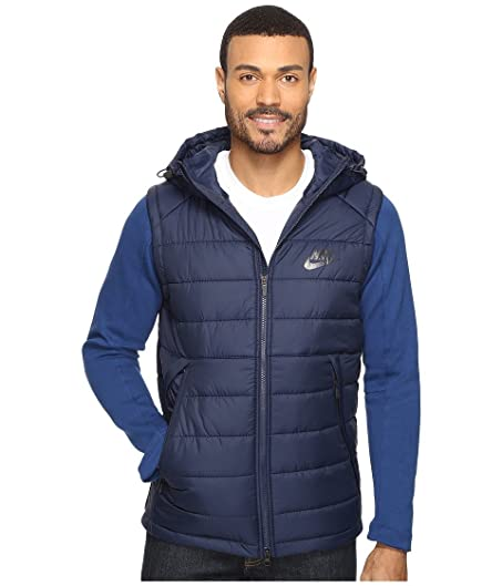 Nike Mens Advance AV15 Hooded Athletic Jacket Blue 806856-451 (X-Large)