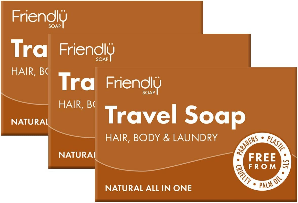 Friendly Soap Natural Travel Soap 3 x 95g