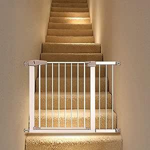 Huo Ajustable del Bebé Walk-Thru Puertas de Escaleras Portal, La Presión del Montaje de Barrera de Seguridad de Cierre (Size : 82-89cm): Amazon.es: Hogar