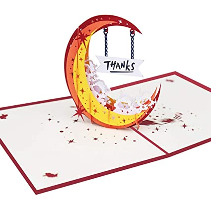 Amazon.com : CHITOP Thank you Card 3D Pop up Greeting Cards ...