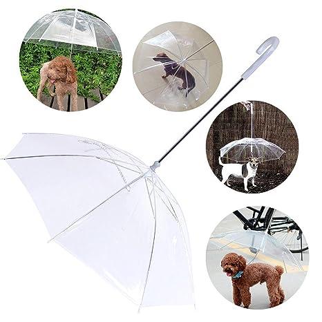 Qingsun transparente paraguas mascota chubasquero ...