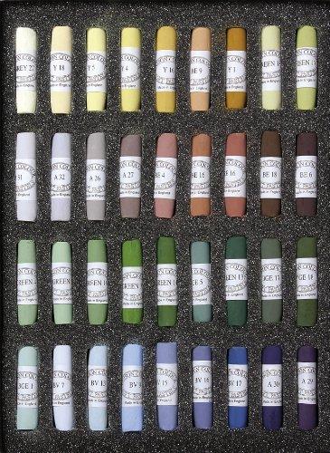 Jack Richeson Unison Pastel Landscape Colors, Set of 36