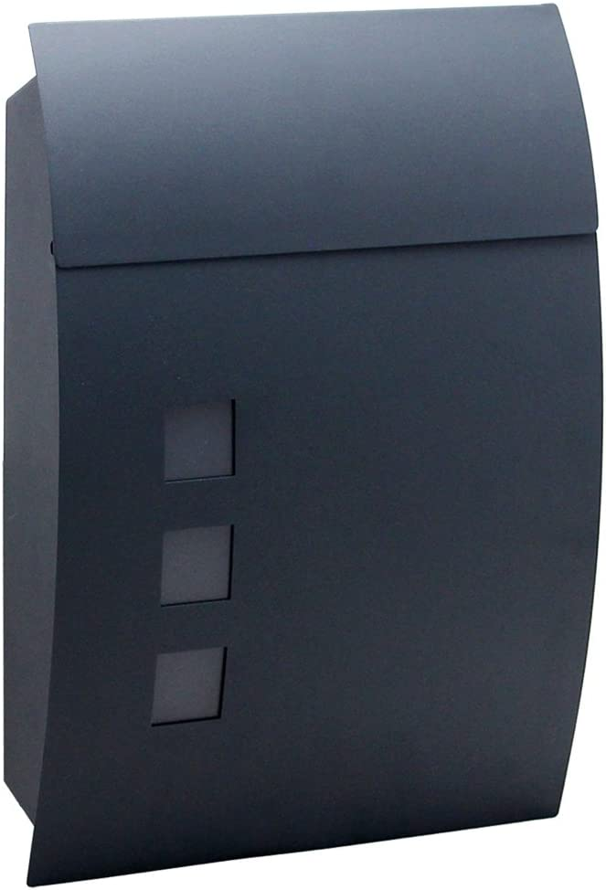 B type MCTECH Buz/ón cepillado acero inoxidable Post Buz/ón con compartimento para peri/ódicos Al aire libre Peri/ódico pared Buz/ón Anlage Letter Box