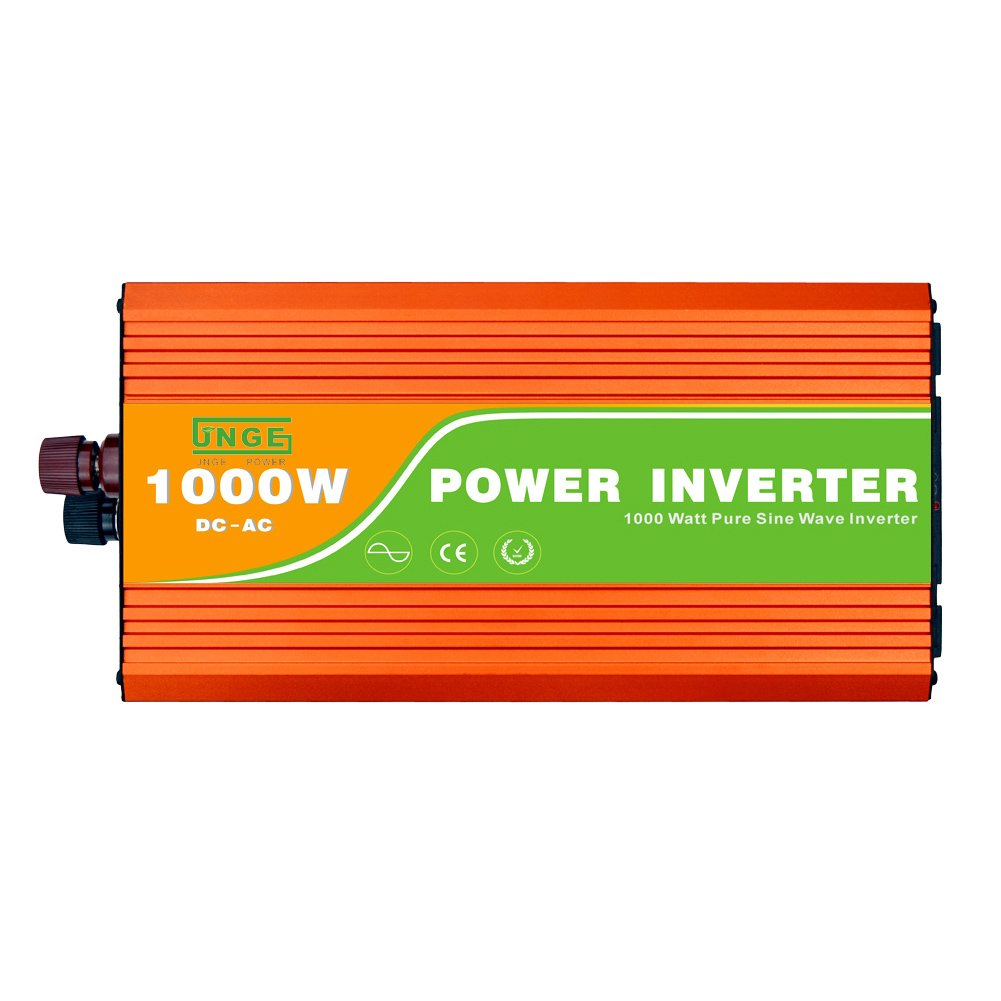 JNGE POWER 1000W Peak 2000W DC to AC Pure Sine Wave Solar Power Inverter with 5V USB and 120V AC output outlets (24V)