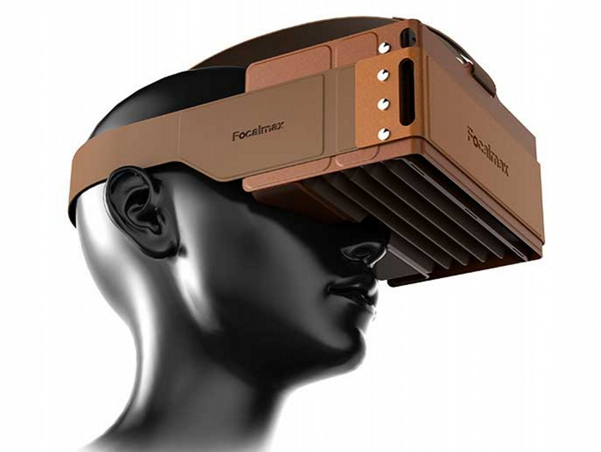 Headset VR, Focalmax Foldable 3D VR Glasses with Comfortable Leather Texture, Virtual Reality Headset in Coffee Color