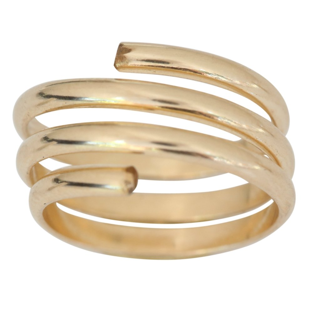 14k Gold Filled Wire Wrap Yoga Coil Adjustable Toe Ring One Fits Fits All Most (Not Plated)