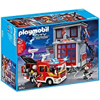 Playmobil 9052 - Mega Fire Rescue Set - Fire Engine with...