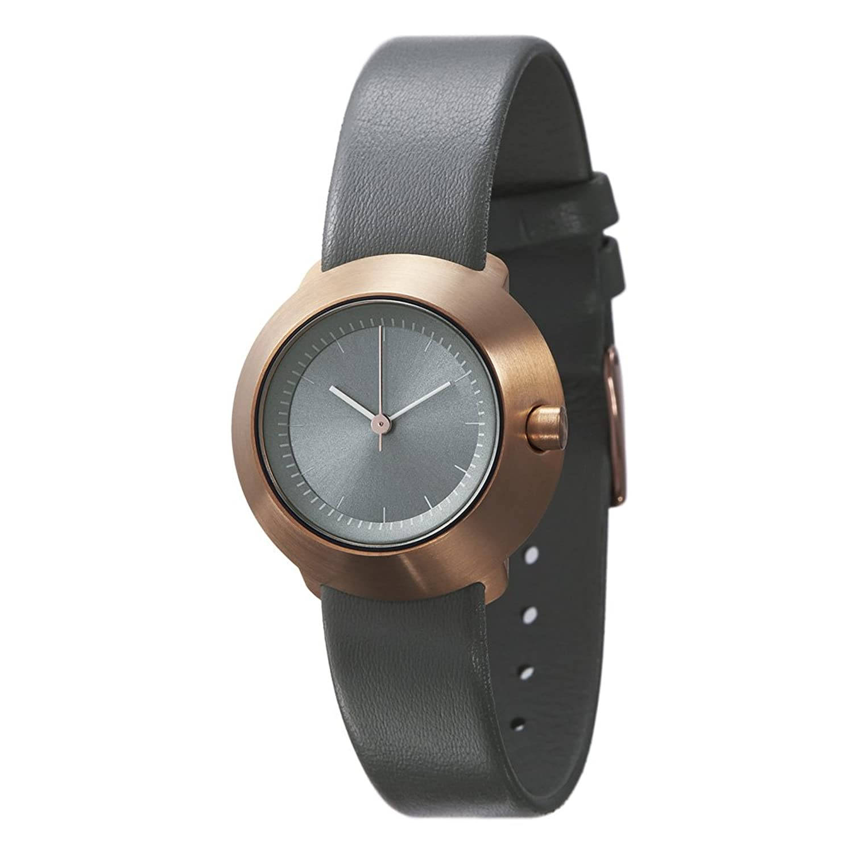 Normal Timepieces Fuji Edelstahl GebÜrstet IP RosÉgold Grau Leder Frau Uhren