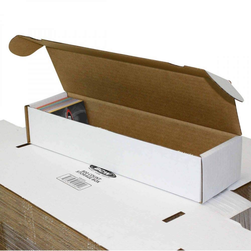 BCW 800 Count- Corrugated Cardboard Storage Box Football Basketball Hockey Baseball Sportscards Nascar Gaming /& Trading Cards Collecting Supplies Set of 2 boxes by BCW