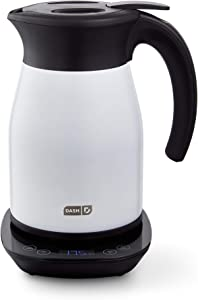 Dash Insulated Electric Kettle, Cordless 1.7L Easy Boil Hot Water Kettle - Matte White, 57oz/1.7L