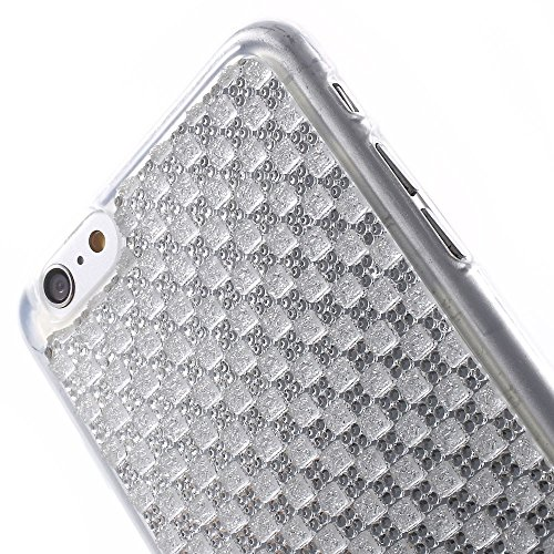 Apple iPhone 6S 6étui housse case paillettes Look Argent decui Argent Gel/TPU Étui de protection