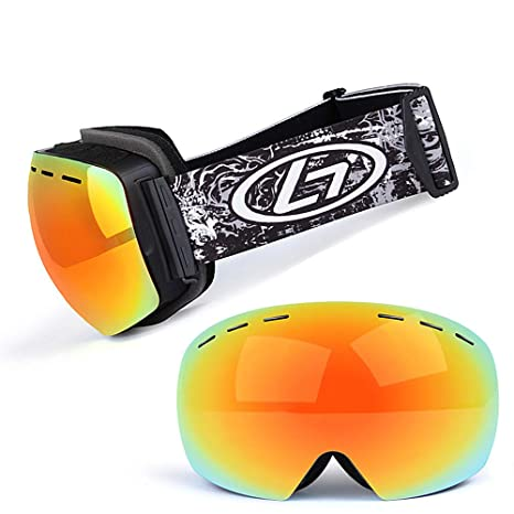 29ce74eb517075 Amazon.com : Showlovein Ski Snowboard Goggles UV Protection Anti-Fog Snow  Goggles Men Women Youth Snowmobile Skiing Skating : Sports & Outdoors