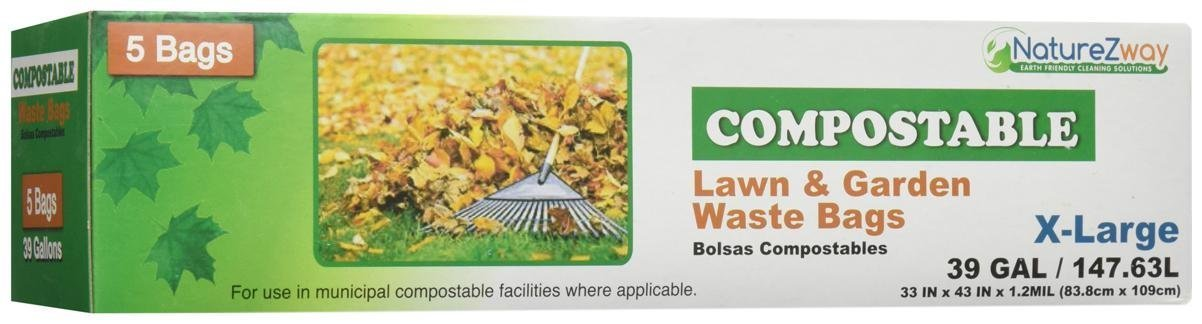 Amazon.com: Naturezway Bag Compostable Lawn & Garden: Health ...