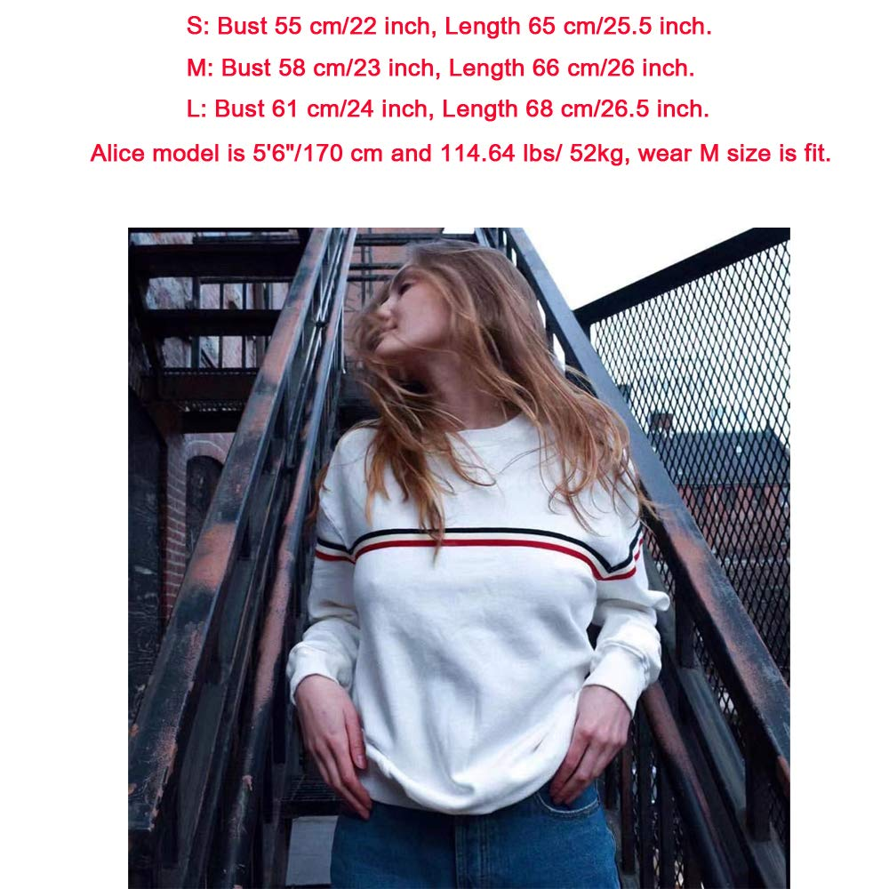 Blanc Rose Sweatshirts Femme Automne Hiver Vintage Long Marque Pullover Sweats Oversized Grande Taille