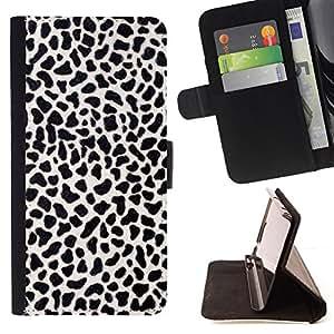 For Sony Xperia Z2 D6502 - Black print texture /Funda de piel cubierta de la carpeta Foilo con cierre magn???¡¯????tico/ - Super Marley Shop -