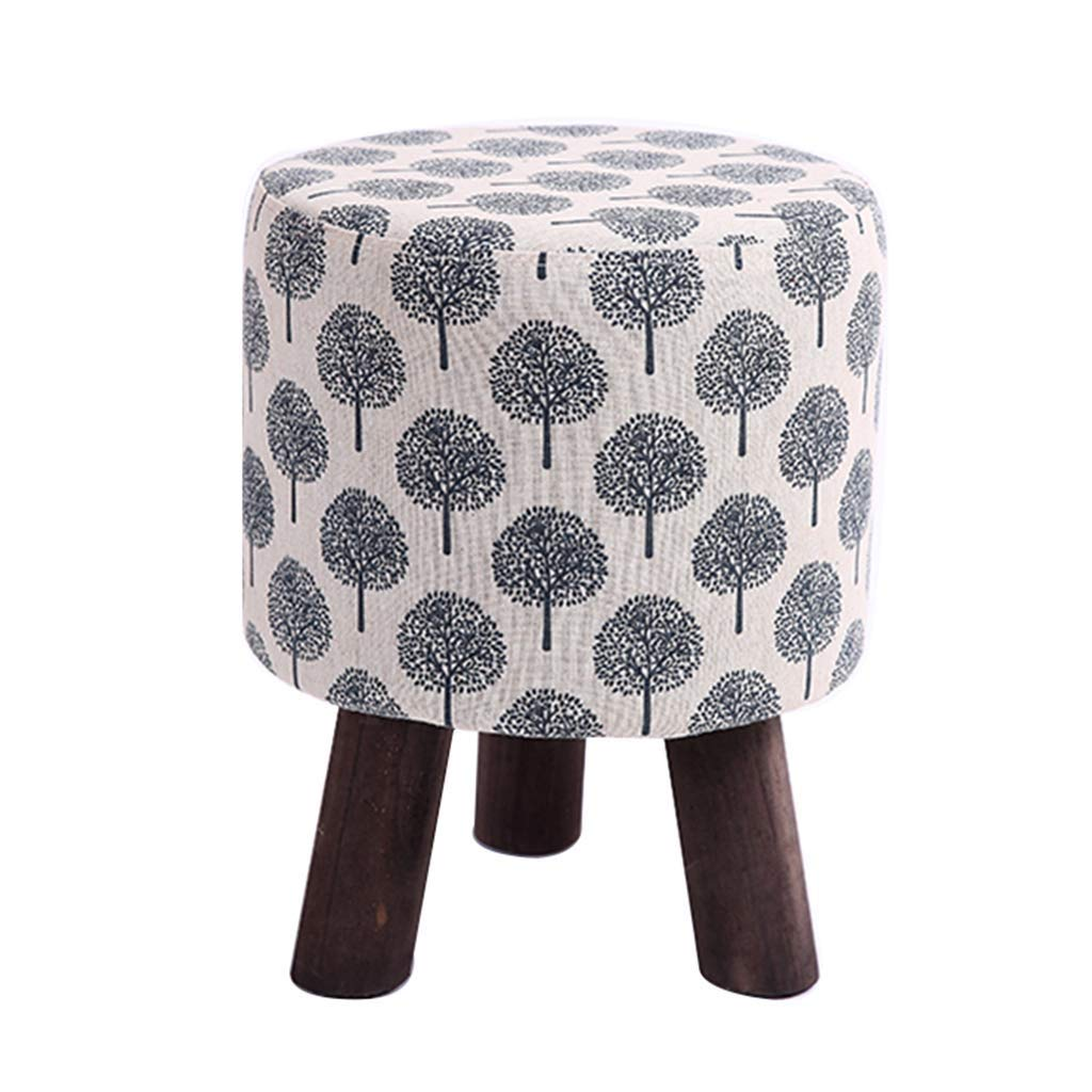 DHINGM Solid Wood Fashion Square Stool Fabric Sofa Stool, Household Coffee Table Stool Adult Low Stool, Using Wood and High-end Fabric, Beautiful, Stable and Durable by DHINGM