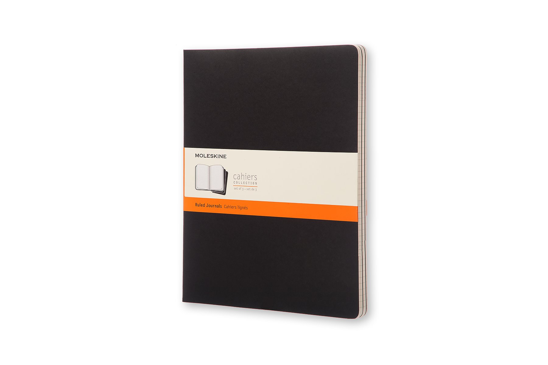 Moleskine Cahier Soft Cover Journal, Set of 3, Ruled, XXL...