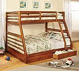 Cheap 247SHOPATHOME IDF-BK588A bunk-beds, Full, Oak