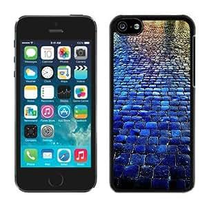 BINGO retail Blue Tiled Walkway The Stone Road iPhone 5C Case Balck Cover