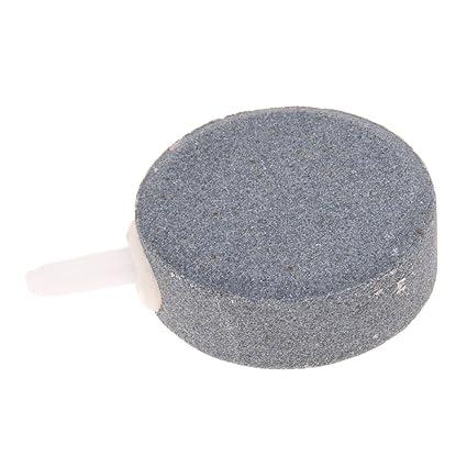 SODIAL(R) Piedras Difusor Porosa Aire Oxigenador Bomba Acuarios Gris Redondo Mini
