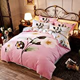 DHWM-Small fresh ground gross 4 piece set, cotton autumn and winter thick cotton 4 piece set, Bedding 4 piece set ,1.8m