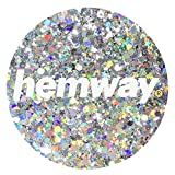 Hemway Silver Holographic Mixed Multi Chunky