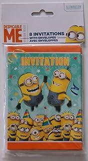 Amazoncom Unique Despicable Me Minions Party Invitations 8ct