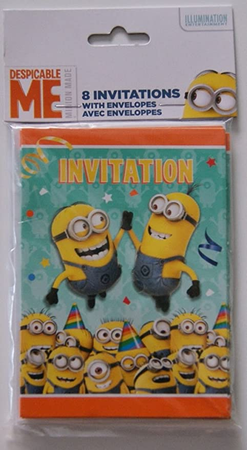 amazon com despicable me minion party invitations toys games