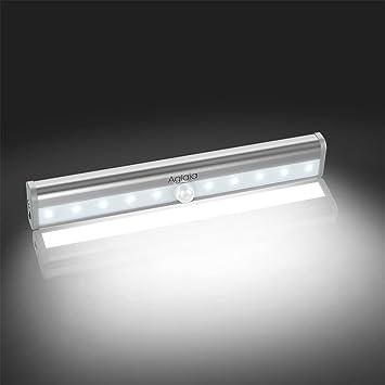 10/LEDs LED-Lampe automatisch mit integriertem Akku mit Bewegungsmelder Nacht-Lampe Hinterbauleuchten wiederaufladbar