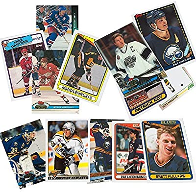 40 Hockey Hall-of-Fame and Superstar Cards Collection Including Mario Lemieux, Wayne Gretzky, Jaromir Jagr, Ray Bourque, Patrick Roy, Mats Sundin, Mark Messier, Steve Yzerman, Teemu Selanne, Brett Hull, Joe Sakic, and Nicklas Lidstrom. Ships in Protective