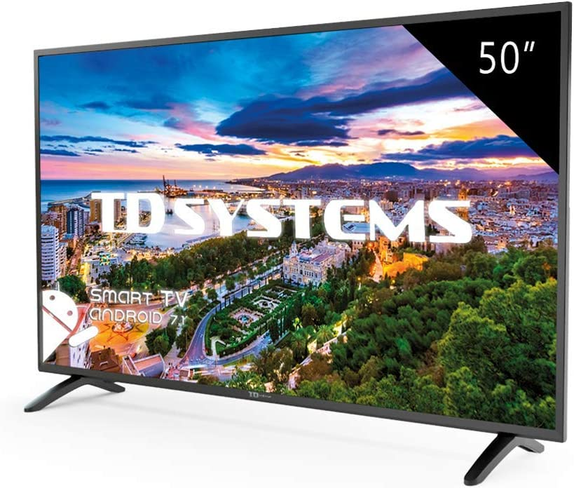 Televisor Led 50 Pulgadas Full HD Smart TD Systems K50DLM8FS. Resolución 1920 x 1080, 3X HDMI, VGA, 2X USB, Smart TV.: Amazon.es: Electrónica