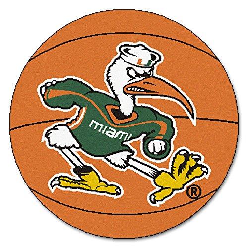 Fan Mats University of Miami Hurricanes Basketball Area Rug