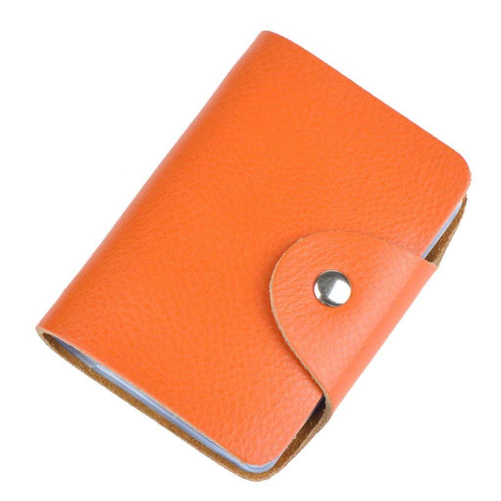 Brilliance Co Tarjetero crédito, titular de la tarjeta de crédito, tarjeta de crédito Carpeta de cuero amarillo XNPJ-PATENT