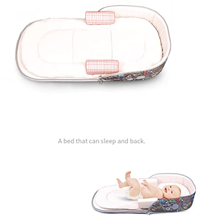 Amazon.com : Aik@ Portable Foldable Baby Cribs Co-Sleeping, Toddler Nest Baby Bed Travel Bed 100% Cotton Hypoallergenic Breathable Suitable for 0-1year ...