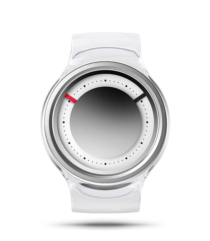 ZIIIRO EON Chrome Damenuhr mit Acrylreif austauschbares Armband