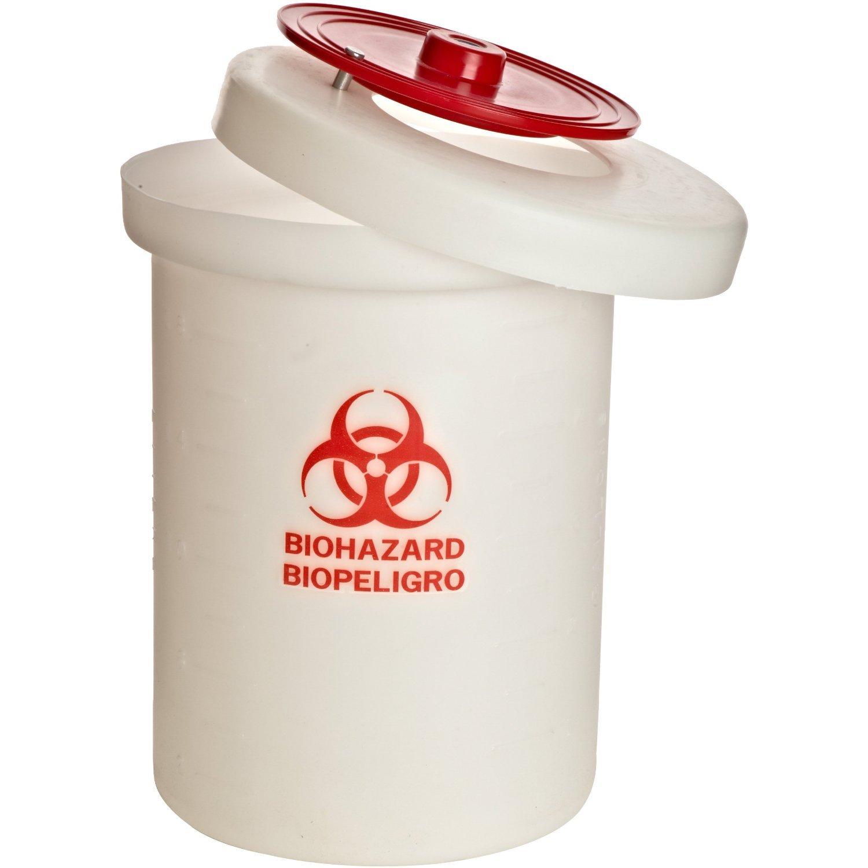 Nalgene 6370-0015 Biohazardous Waste Container, Polypropylene (PP), 15-Gallon