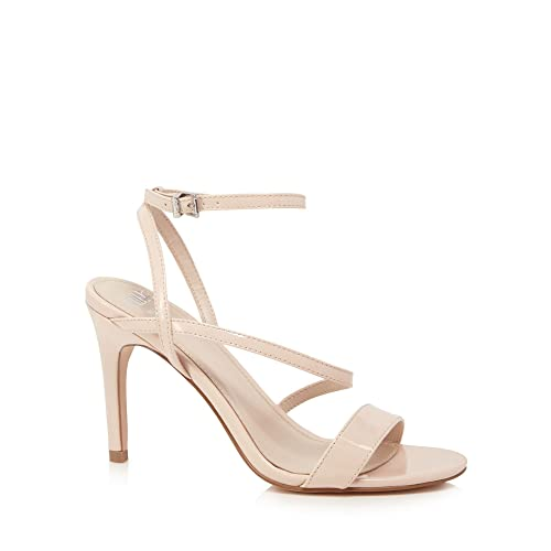 ddaf5d3ddafd Faith Womens Natural  Delly  High Heel Wide Fit Ankle Strap Sandals ...