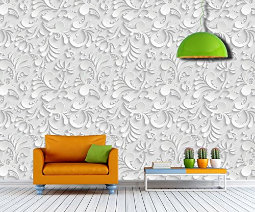 ELL DECOR Floral Non -Woven Imported Wallpaper - 52 Square feet Roll: Amazon.in: Home Improvement