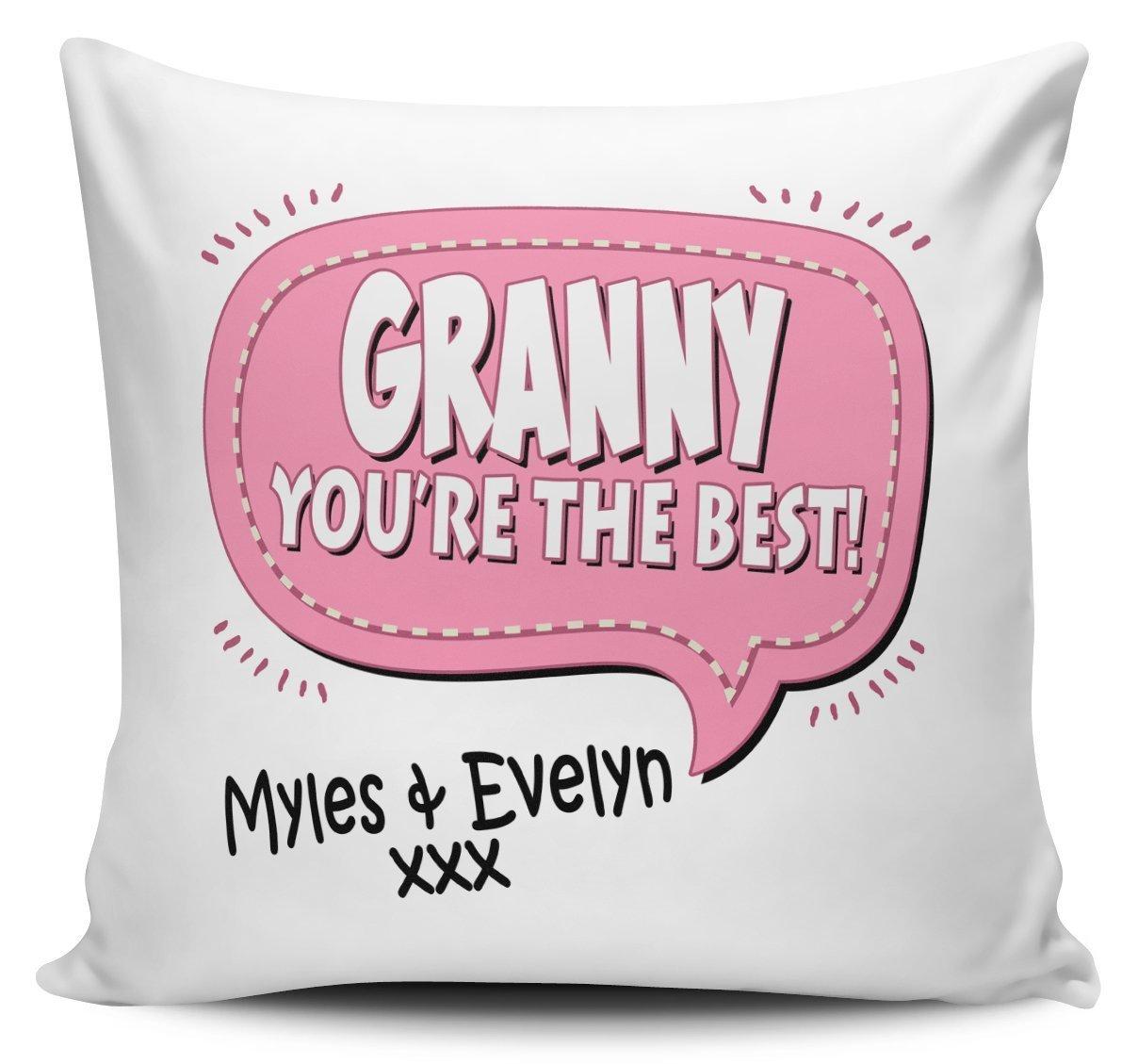 Personalizado que eres el mejor abuela cojín con interior ...