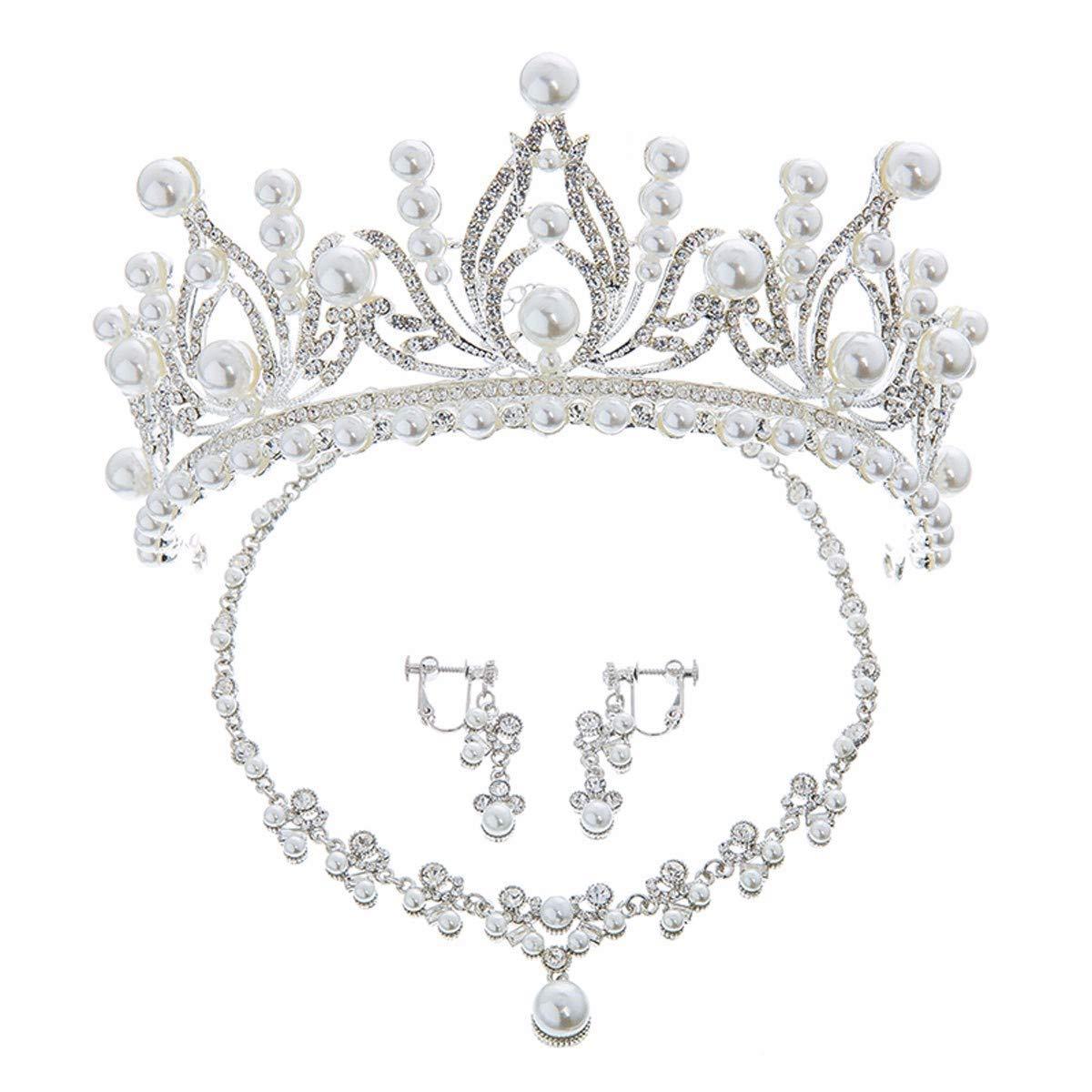 Girls Crown, Beautiful headdress/Bridal Headwear Crown Necklace Earrings Wedding Dresses Wedding Accessories