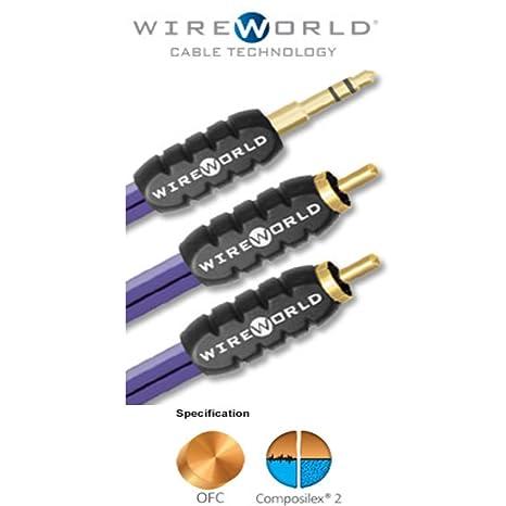 Amazon.com: WIREWORLD Pulse Mini Jack to 2 RCA Audio Cable - 2.0M ...
