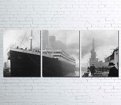 Amazon.com: 3PCS Framed TITANIC Canvas Prints - 3 Piece Canvas ...